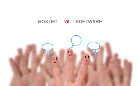 hosted vs software