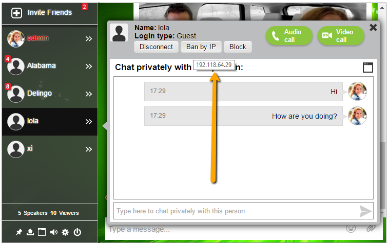 Chat room example for buddypress (from blog)