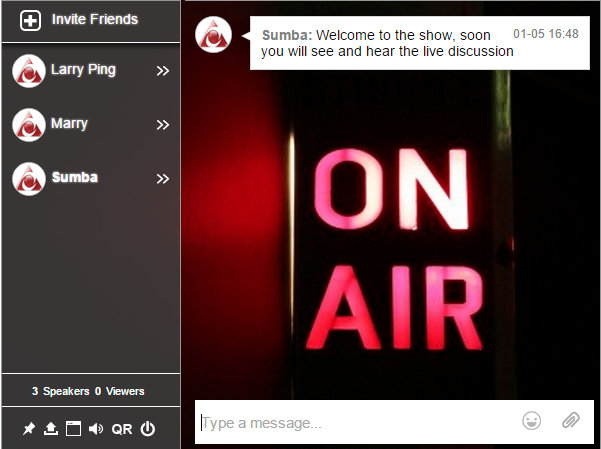 On Air Internet radio chat room