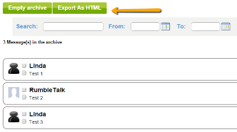 export as html