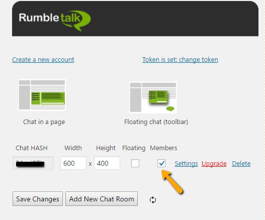 chat room members plugin