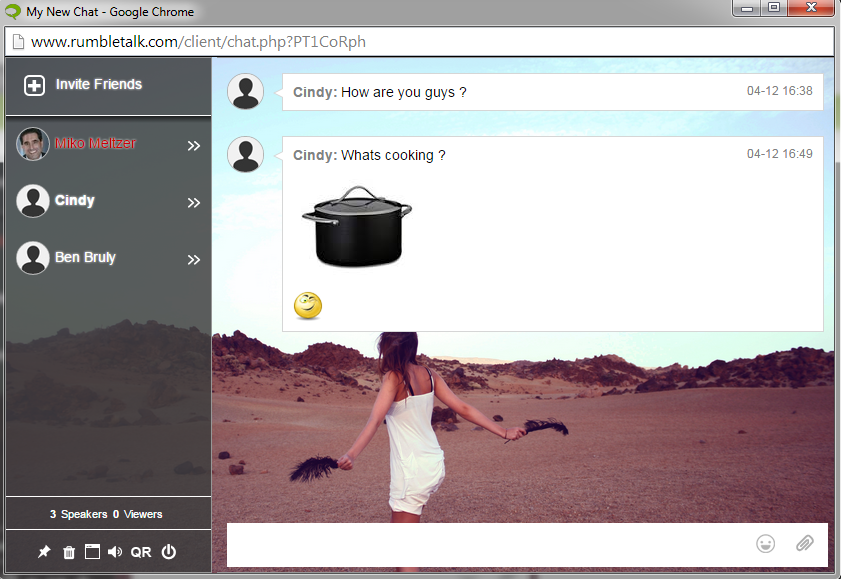 html chat software in the cloud