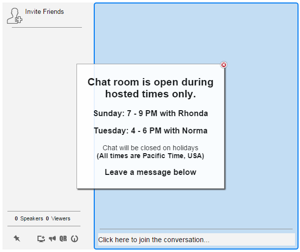 idea chat room message