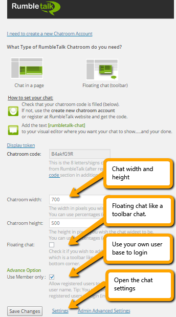 Set and Control the width and height of your group chat room